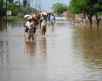 Überschwemmung in Chokwe