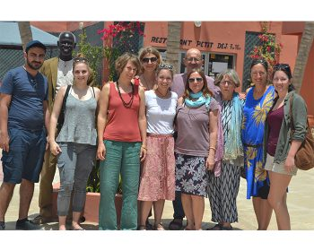 Unsere Reisegruppe mit Projektleiter Mamadou Ndiaye