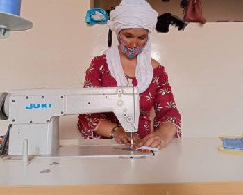 Schutzmaskenproduktion in Agadez